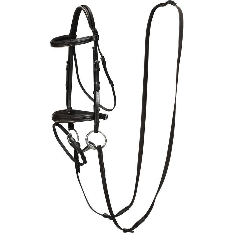 UZDĚNÍ Jezdectví - UZDEČKA S OTĚŽEMI EDIMBURGH FOUGANZA - Vybavení pro koně