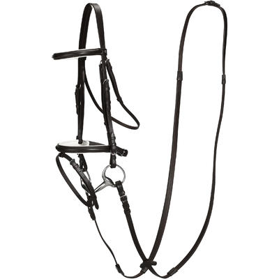 Essen Horse Riding Horse And Pony Bridle + Reins Set - Black