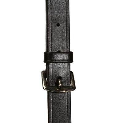 SCHOOLING horse riding gogue - black, horse sized
