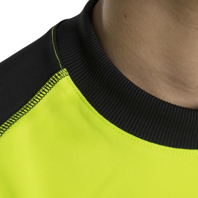 Kids' Football Goalkeeper Jersey F300 - Yellow/Black