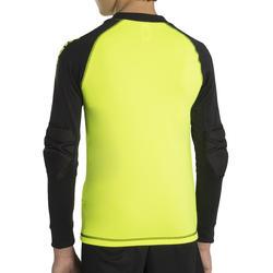 F300 Kids' Soccer Goalkeeper Shirt - Yellow/Black