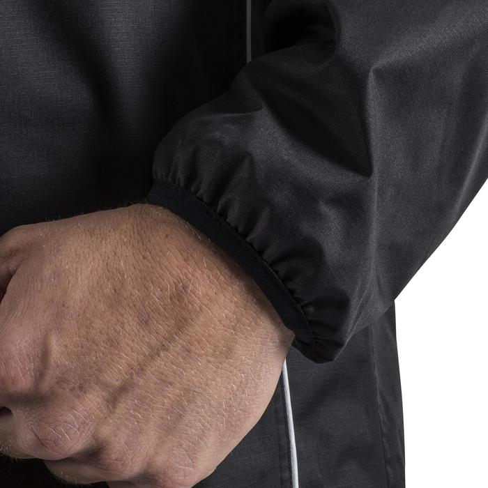 Trainingsjacke Rugby Smocktop winddicht wasserdicht Erwachsene schwarz