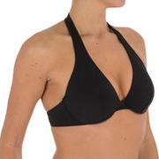 Top de bikini mujer fular aros ELLA liso negro