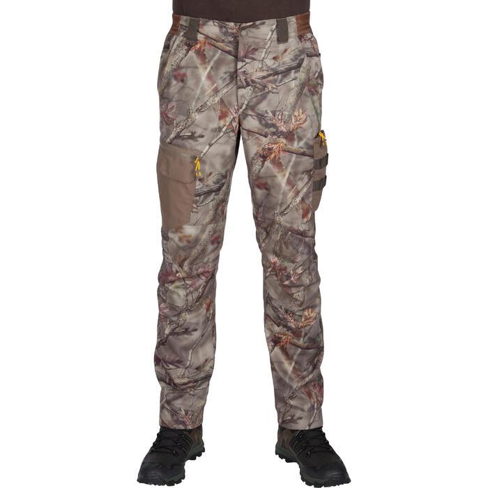 Ademende camouflagebroek voor de jacht 300 bos