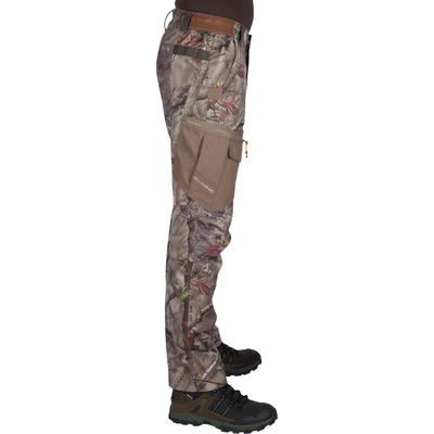 PANTALON CHASSE RESPIRANT 300 CAMOUFLAGE FORET