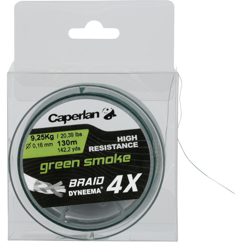 TRENZADO BRAID 4X GREEN SMOKE 130 m