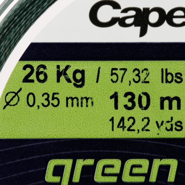 Angelschnur 4fach geflochten grün 130 m