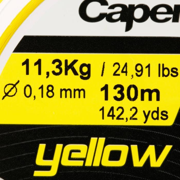Angelschnur 4fach geflochten gelb 130 m