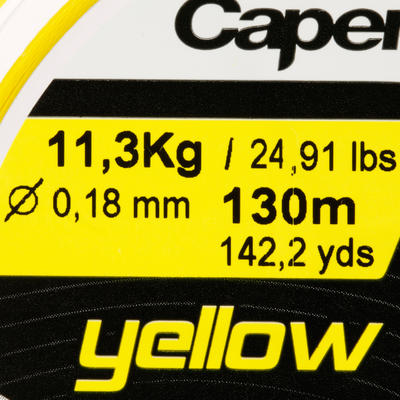 LURE FISHING BRAIDED LINE TX4 130 M - YELLOW