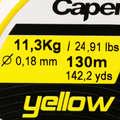PLECIONKI Wędkarstwo - Plecionka 4X żółta 130m CAPERLAN - Linki główne, żyłki, plecionki