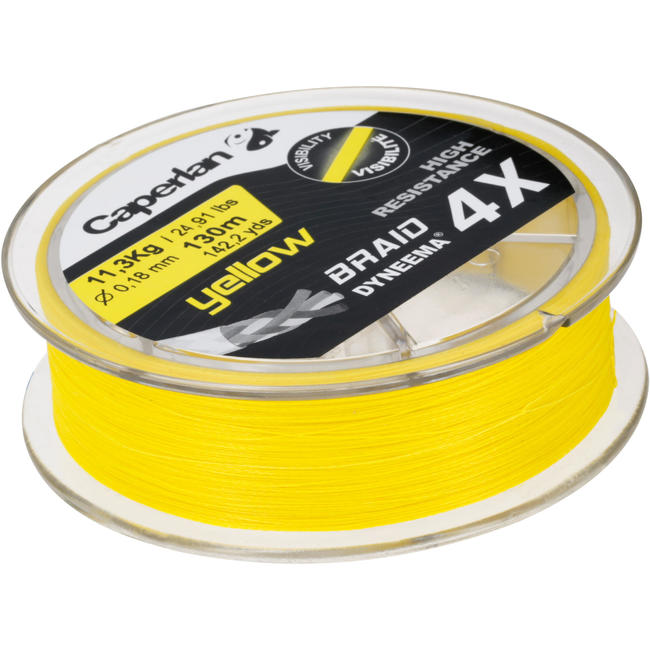 TX4 YELLOW 130 M FISHING BRAID