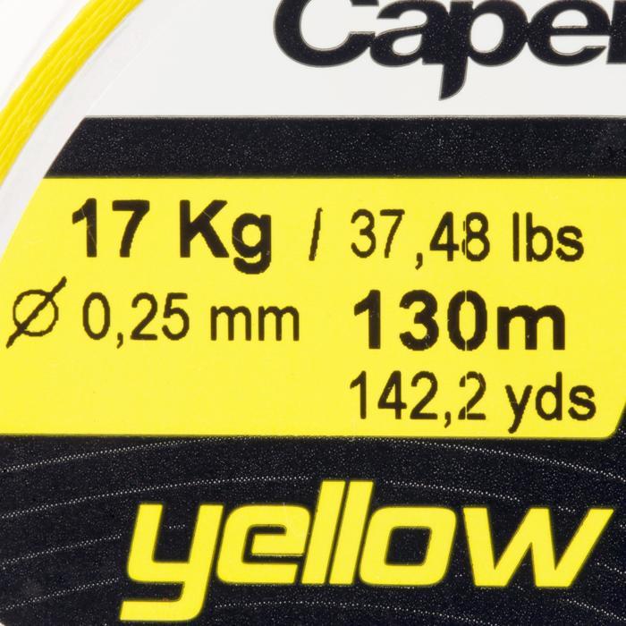 Gevlochten vislijn Braid 4X geel 130 m