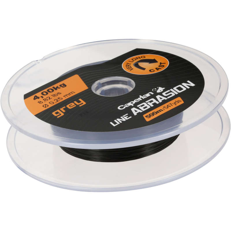 LINES OVER 300M Fishing - LINE ABRASION GREY 500 M CAPERLAN - Fishing