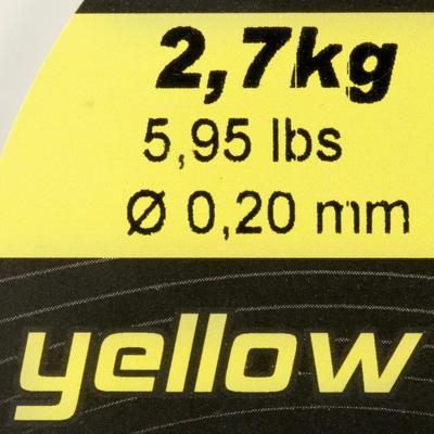 חוט דיג abrasion צהוב 1000 מ'