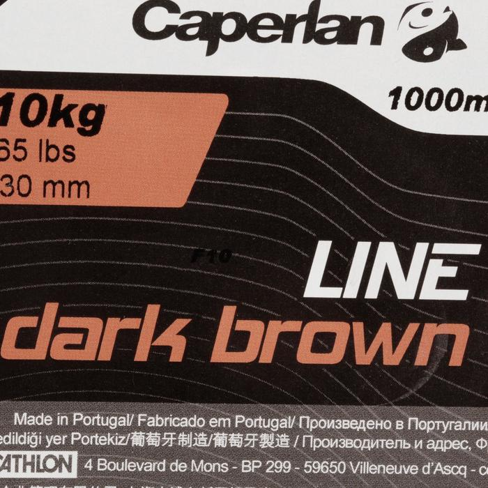 FIL PÊCHE DE LA CARPE LINE DARK BROWN 1000 M - 705954