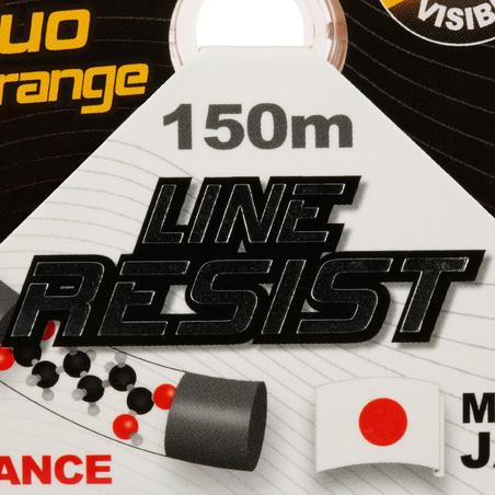 RESIST FISHING LINE NEON ORANGE 150 M