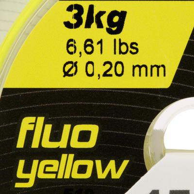 חוט דיג עמיד מפלואור 150 מטר - צבע צהוב