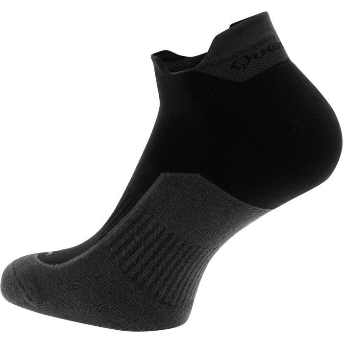Country walking socks - NH500 Low - X2 pairs - black