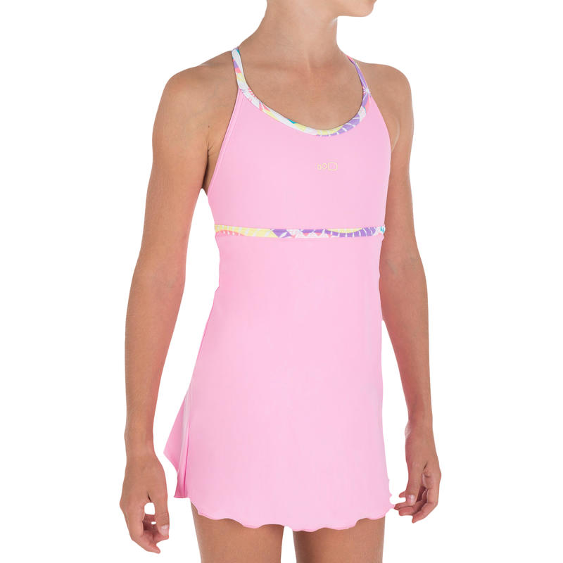 Riana Dress Girls' One-Piece Swimsuit - Allkali Pink