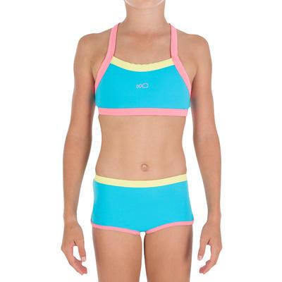 44da57eacd730 Debo Light girls' two-piece swimsuit - blue pink