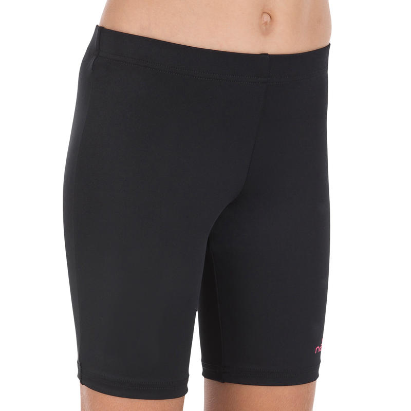 Long Shorty Girls' Swimsuit Bottoms - Black