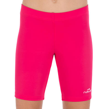 Girls' Long Shorty Swimsuit Bottoms - Pink