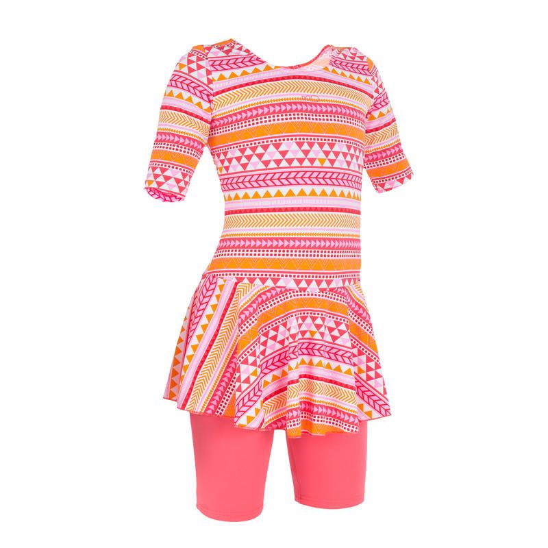 Audrey Girls' Jammer Allknit Swimsuit - Orange