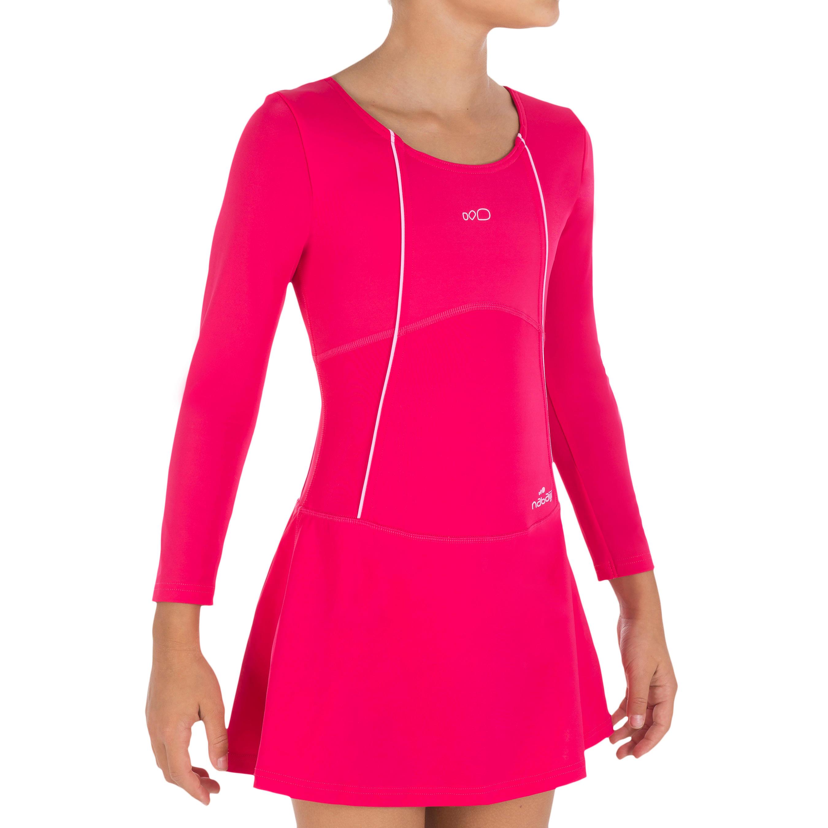 Audrey Sleeve girls' swimsuit - pink