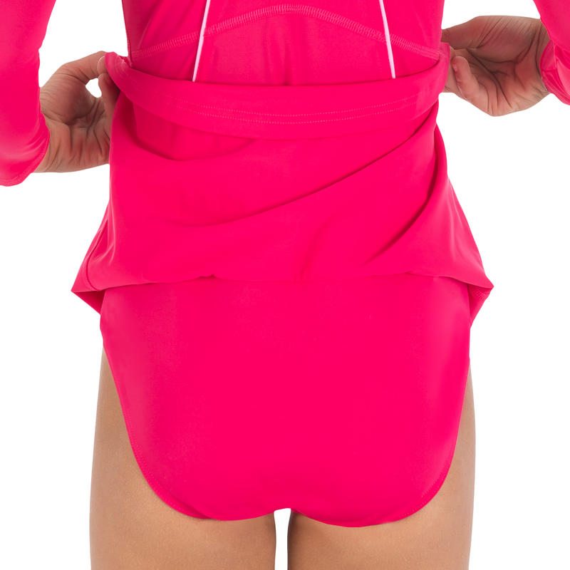 Audrey Sleeve girls' swimsuit - pink