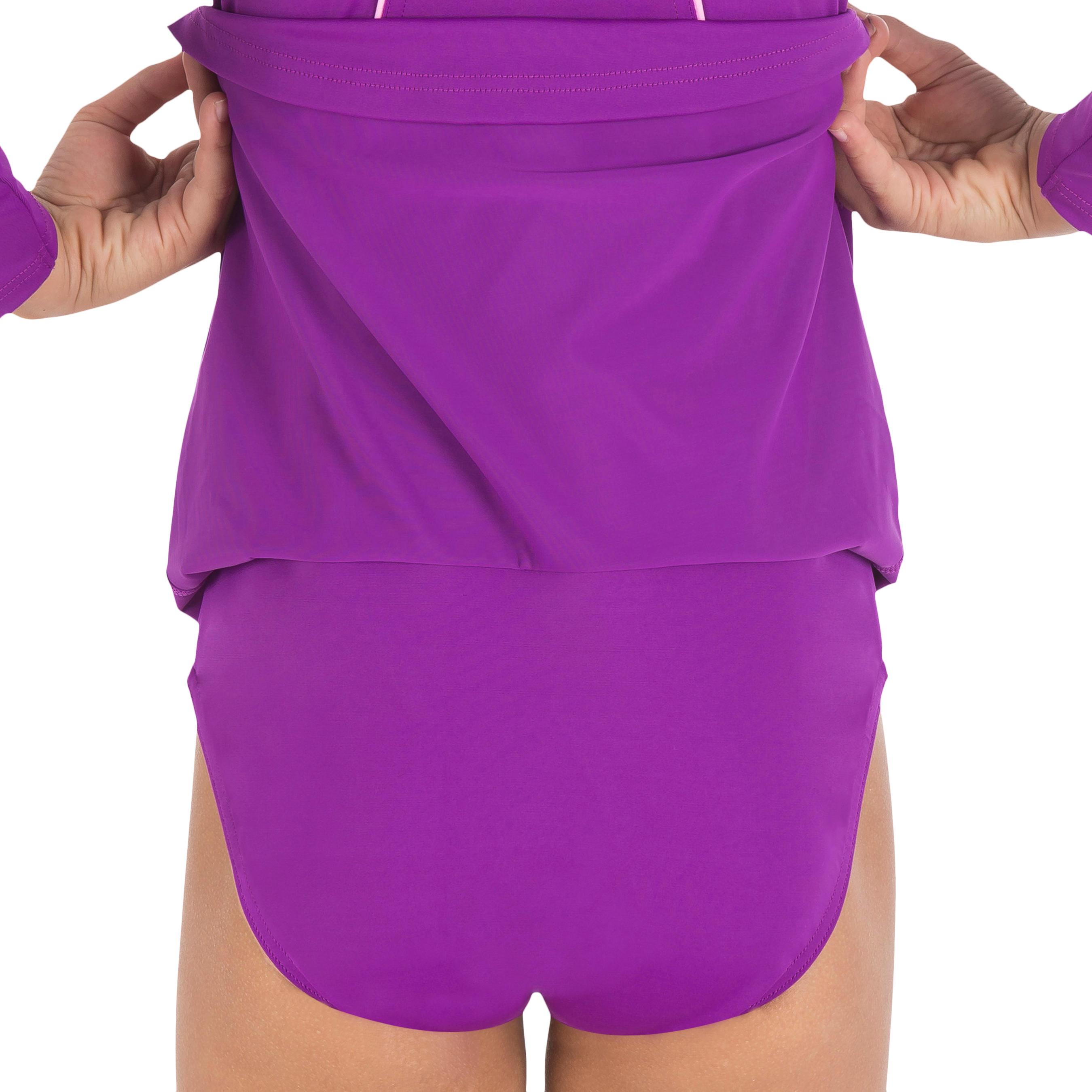 Audrey Girl's One-Piece Sleeve Swimsuit - Purple