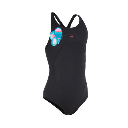 Debo Wing girls' one-piece swimsuit - black
