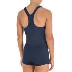 Leony Girls' One-Piece Legsuit Swimsuit - Biru
