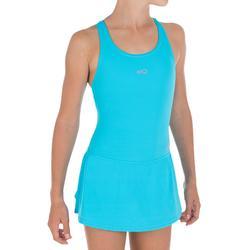 女童一件式連身裙泳裝Leony-藍色