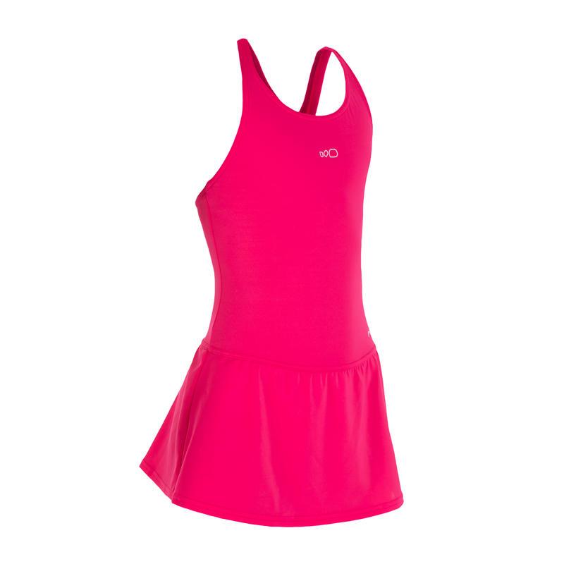 Girls' Swimsuit One-Piece Skirt - Leony Pink
