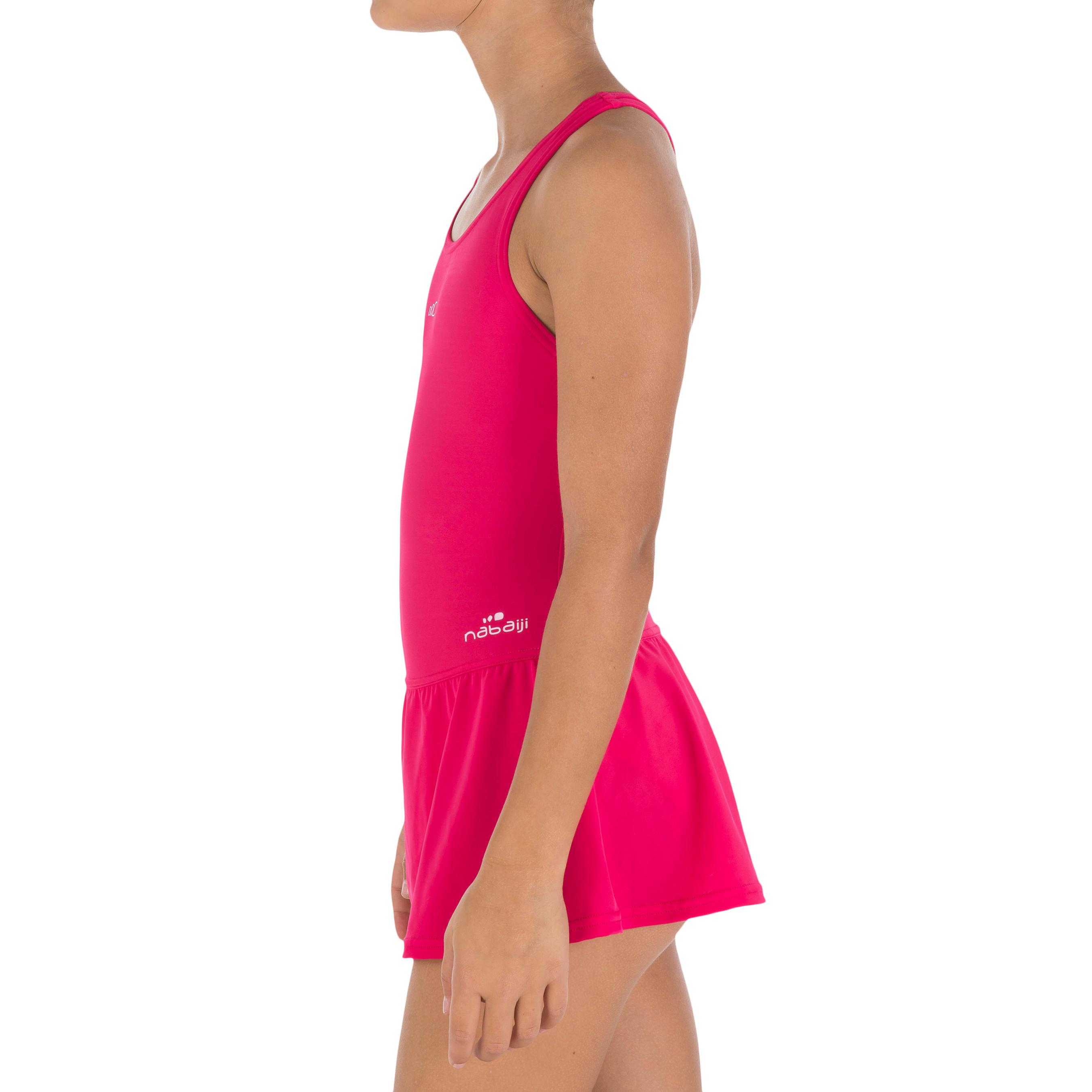 Girl swimming costume Leony Skirt - Pink