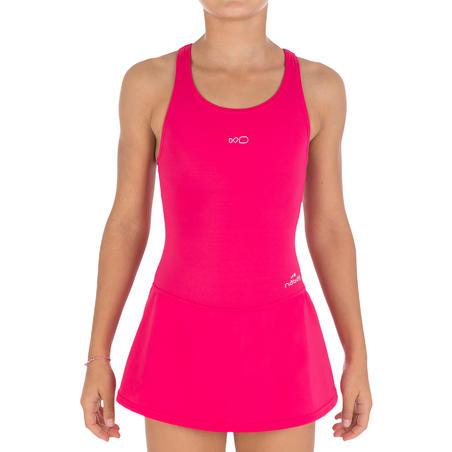 Girls' One-Piece Swimsuit Leony Skirt - Pink