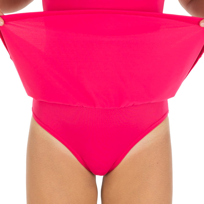 Girl swimming costume Leony Skirt - Pink