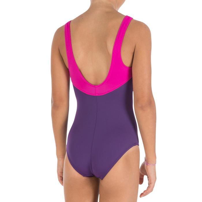 Meisjesbadpak Loran violet/roze