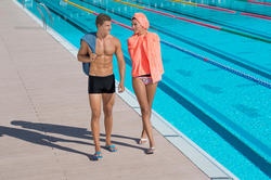 Zwemboxer voor heren B-Active Plus zwart - 707880