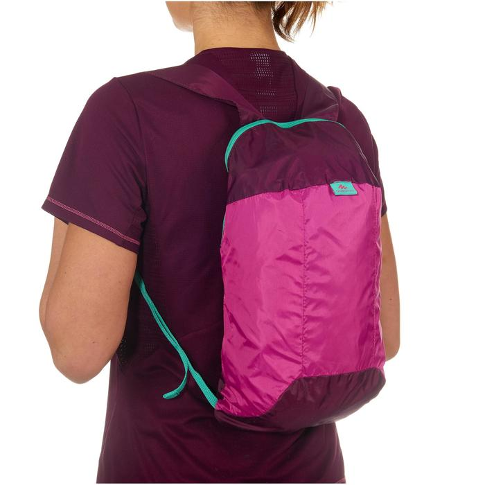 Rucksack Travel ultrakompakt 10 Liter violett