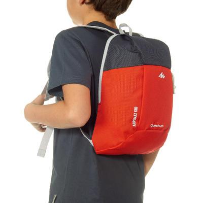 Morral de excursionismo para niños Arpenaz Kid rojo y gris