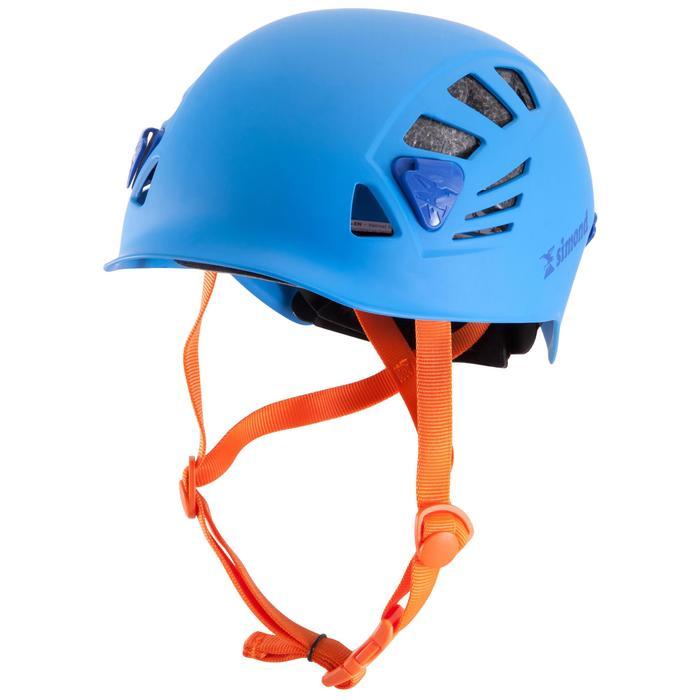 攀岩與登山運動安全帽-岩石藍