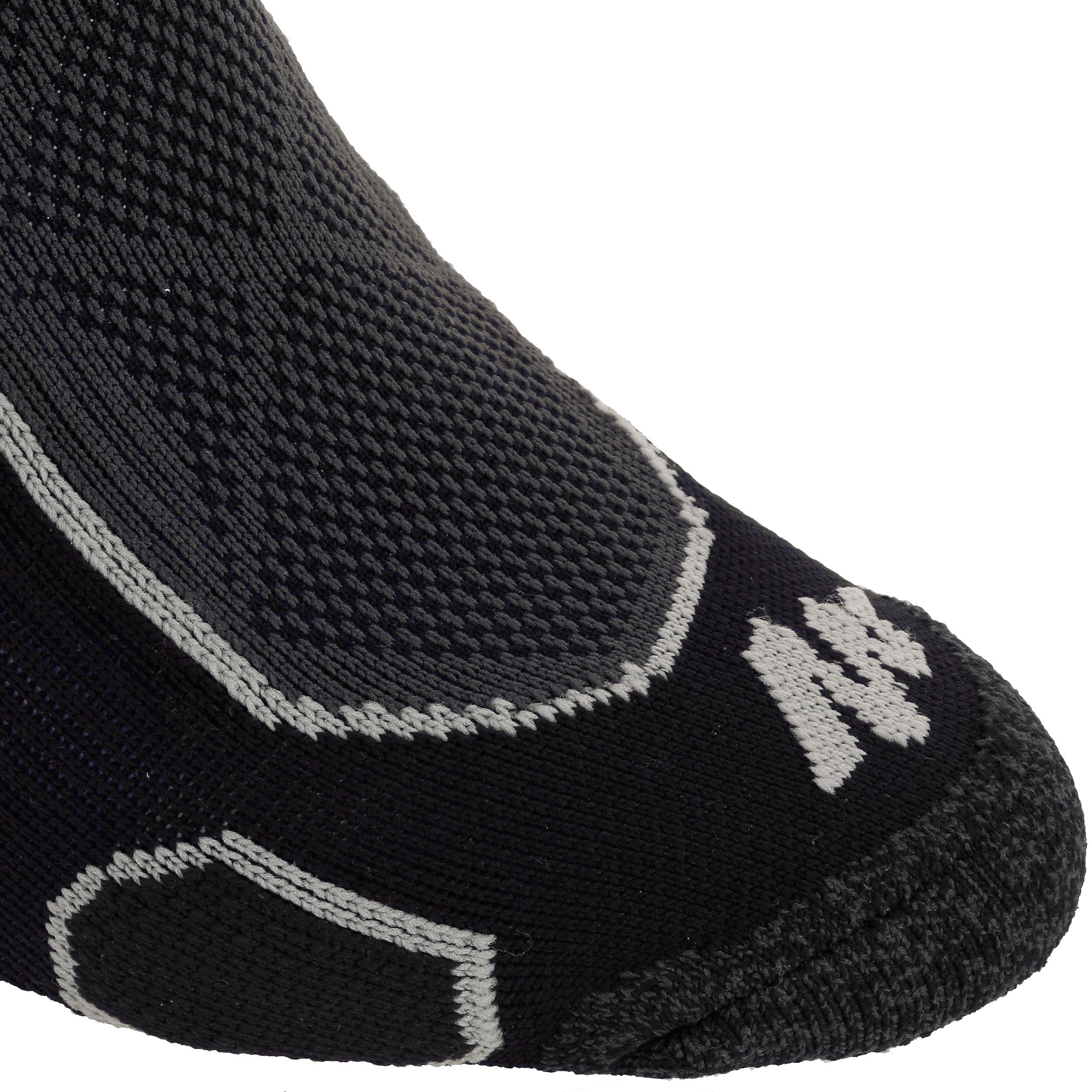 Mid upper Mountain Hiking Socks. Forclaz 500 2 pairs - Black