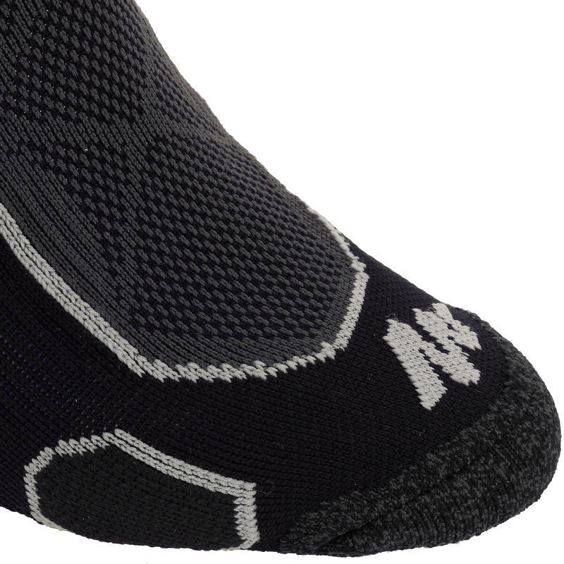 ถุงเท้าเดินป่าบนภูเขาแบบยาวปานกลาง รุ่น Forclaz 500 2 คู่ (สีดำ)