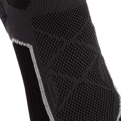 جوارب متوسطة طويلة للمشي في الجبال. زوج جوارب Forclaz 500-أسود