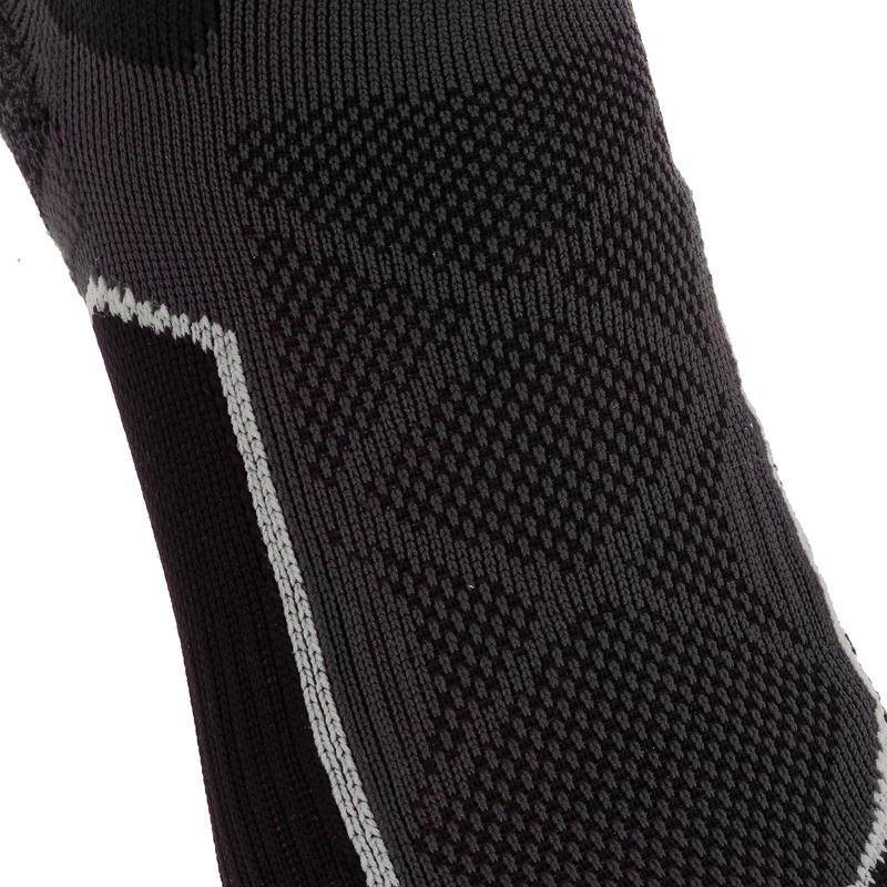 Calcetines de senderismo montaña media caña.2 pares Forclaz 500 negro