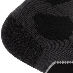 Mid-Length Mountain Hiking Socks. Forclaz 500 2 pairs - Black