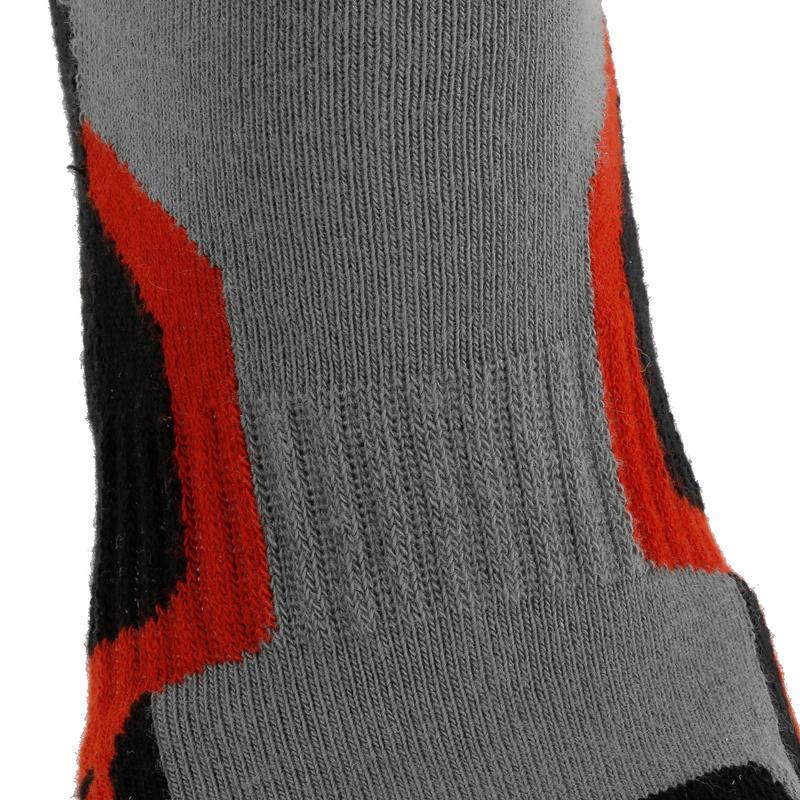 2 pares de calcetines de senderismo caña alta niño Crossocks rojo