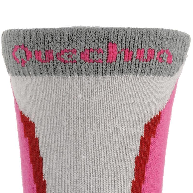 Crossocks Children's High Mountain Hiking Socks 2-Pack - Pink
