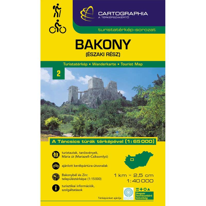 térképek Túrázás - Bakony-Észak turistatérképe CARTOGRAPHIA - Túra felszerelés